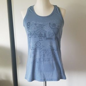 Brooks Running Tank Top with city scene graphic